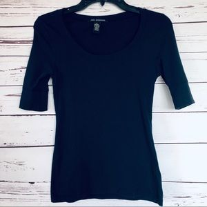 Cute Navy Blue Top By Zenana Outfitters
